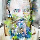 FYODOR DOSTOYEVSKY - watercolor portrait.6 by lautir