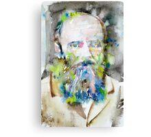 FYODOR DOSTOYEVSKY - watercolor portrait.6 Canvas Print