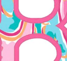 Red Sox B Lilly Pulitzer  Sticker