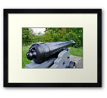East Bastion Gun, Carisbrooke Castle Framed Print
