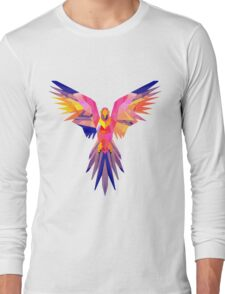 Low-Poly Tropical Bird Long Sleeve T-Shirt