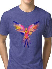 Low-Poly Tropical Bird Tri-blend T-Shirt