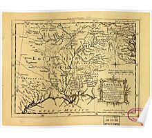 American Revolutionary War Era Maps 1750-1786 582 Louisiana as formerly claimed by France now containing part of British America to the east & Spanish America Poster