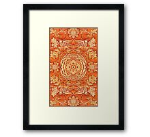 - Golden pattern - Framed Print