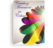 Ribbon Colour Metal Print