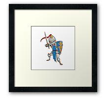 Knight Cartoon Framed Print