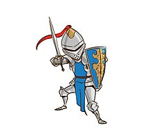 Knight Cartoon Photographic Print