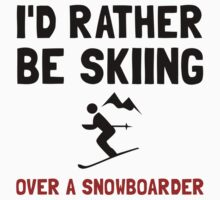 Skiing Over Snowboarder One Piece - Long Sleeve