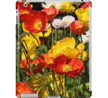 Orange and Yellow Poppy Flowers iPad Case/Skin