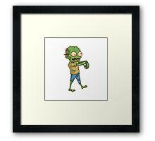 Zombie Cartoon Framed Print
