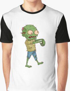 Zombie Cartoon Graphic T-Shirt