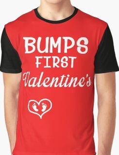 Bump's First Valentine 2 White Graphic T-Shirt