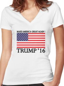 Make America Great Again ! Women's Fitted V-Neck T-Shirt