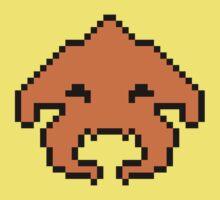 Pixel Invader : Orange One Piece - Short Sleeve