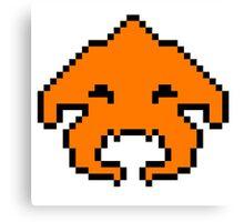 Pixel Invader : Orange Canvas Print