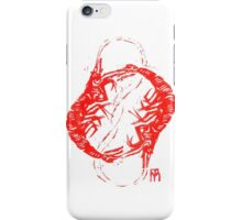 Linocut with red shrimps iPhone Case/Skin