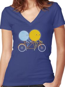 Tandem Women's Fitted V-Neck T-Shirt