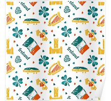 Irish Symbols pattern Poster