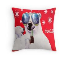 Coca-Cola Polar Bears  Throw Pillow