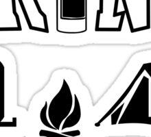 Camping Black Sticker