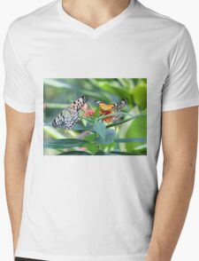 Butterfly Community Mens V-Neck T-Shirt