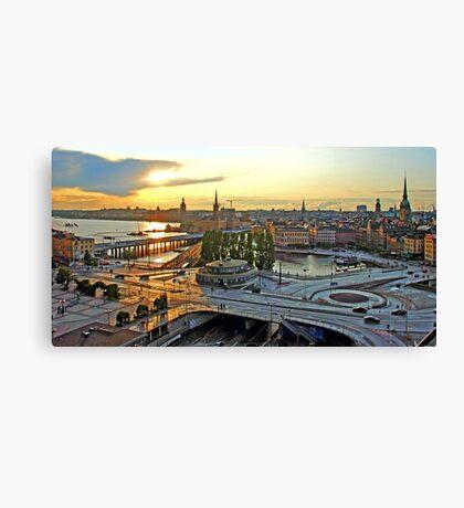 Sweden - Slussen at Stockholm Canvas Print