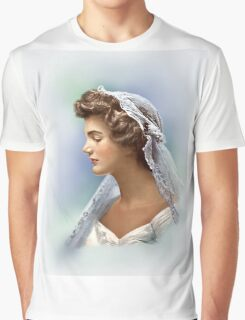Colorized Vintage Portrait of Jacqueline Kennedy in 1953 Graphic T-Shirt