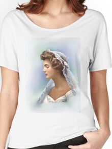 Colorized Vintage Portrait of Jacqueline Kennedy in 1953 Women's Relaxed Fit T-Shirt
