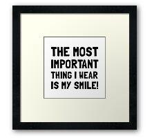 Wear Smile Framed Print