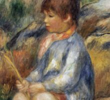 Renoir Auguste - Young Boy By A Brook Sticker