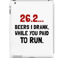 26 Beers Run iPad Case/Skin