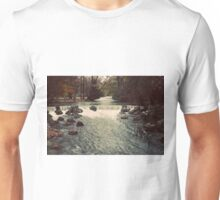 Waterfall river germany forest color photo Unisex T-Shirt