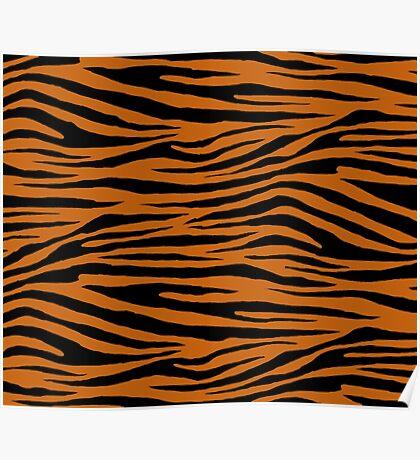 0646 Alloy Orange Tiger Poster