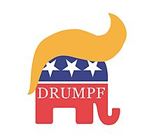 Drumpf 2016 GOP Elephant Hair  Photographic Print