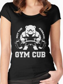 Not the average GYM CUB Women's Fitted Scoop T-Shirt