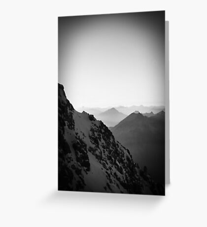 Mountain alps europe black and white photo Greeting Card