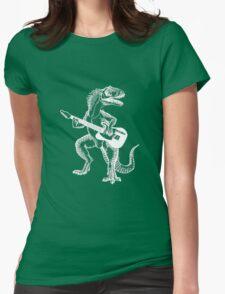 Dino the Guitar Hero Womens Fitted T-Shirt