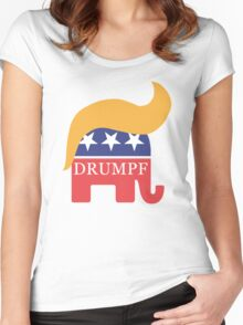 Drumpf 2016 GOP Elephant Hair  Women's Fitted Scoop T-Shirt
