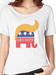 Drumpf 2016 GOP Elephant Hair  Women's Relaxed Fit T-Shirt