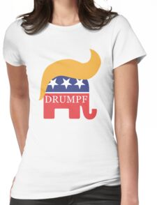 Drumpf 2016 GOP Elephant Hair  Womens Fitted T-Shirt