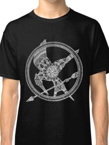 White on Black Hunger Games Mandala Classic T-Shirt