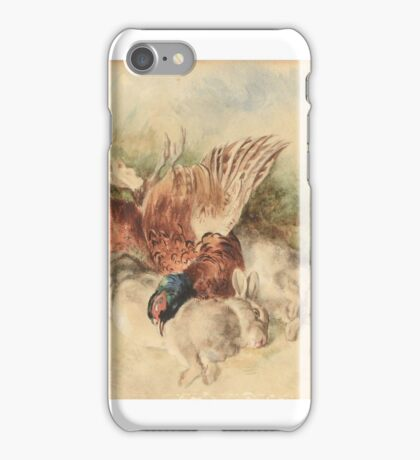 Heywood Hardy , Still life with two hares and a pheasant iPhone Case/Skin