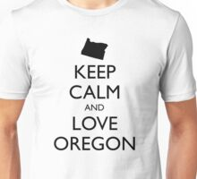 KEEP CALM and LOVE OREGON Unisex T-Shirt