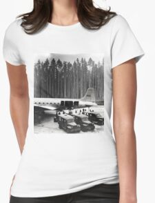 Evacuation from the Tall Trees Womens Fitted T-Shirt