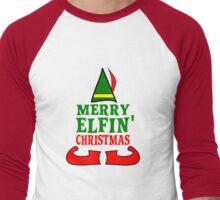 Merry Elfin' Christmas Men's Baseball ¾ T-Shirt