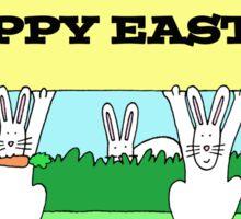 Easter bunnies fun. Sticker