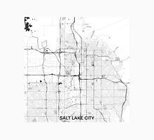 Salt Lake City Map Gray Unisex T-Shirt