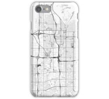 Salt Lake City Map Gray iPhone Case/Skin