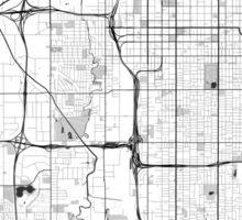 Salt Lake City Map Gray Sticker