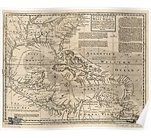 American Revolutionary War Era Maps 1750-1786 307 An accurate map of the West Indies Exhibiting not only all the islands posses'd by the English French Poster